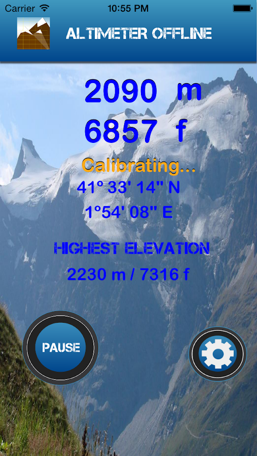 Altimeter Offline- screenshot