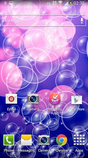Bubbles HD Parallax Wallpaper