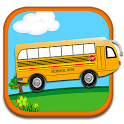 Toddler Kids School Bus Toy icon