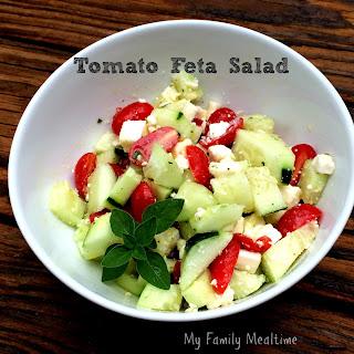 Tomato Feta Salad and Greek Dressing