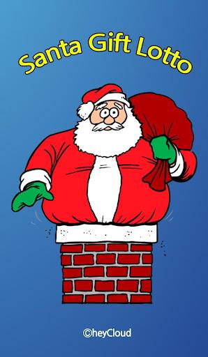 코믹한 산타의 선물 - 로또 번호 추첨 크리스마스용