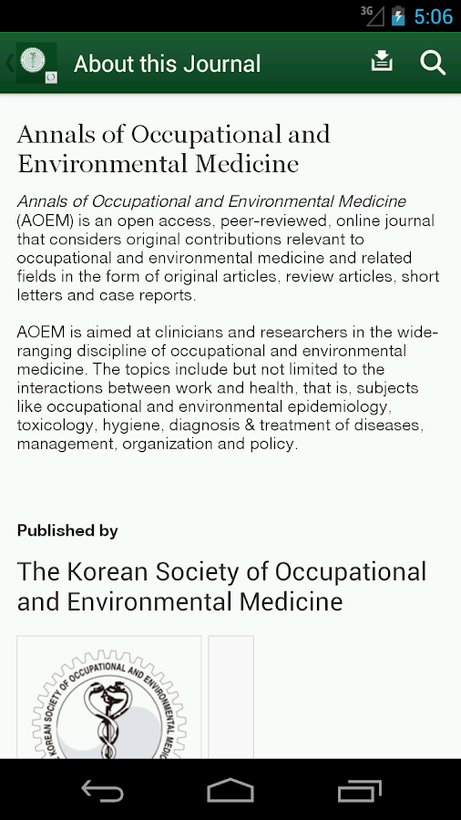 Annals of Occup & Environ Med- screenshot