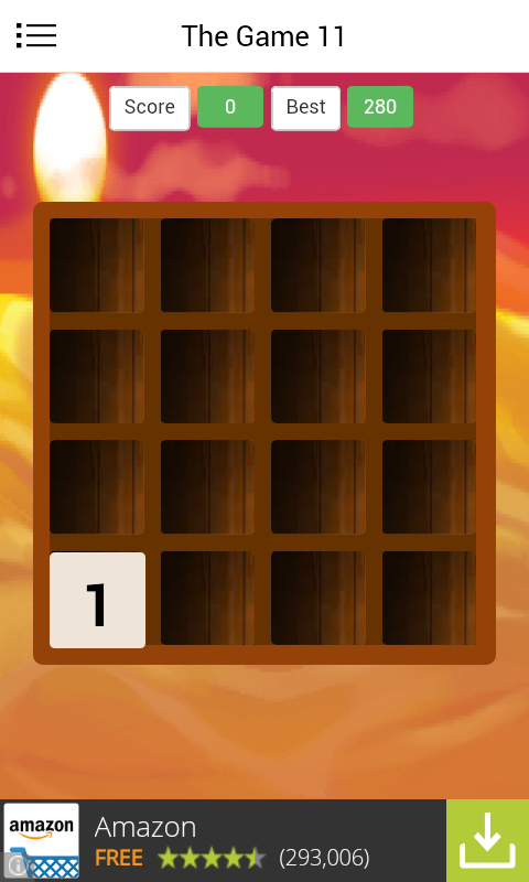 Elevens Tiles numbers puzzles- screenshot