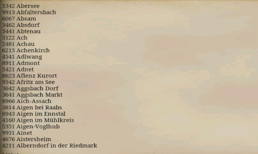 AUSTRIA POSTAL CODE - screenshot thumbnail