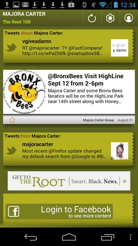 Majora Carter: The Root 100 - screenshot