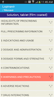 AIDSinfo Drug Database- screenshot thumbnail
