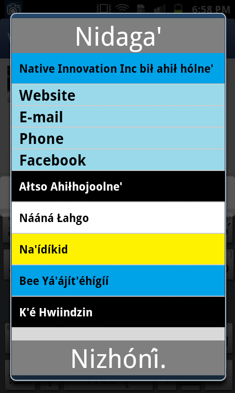 Navajo Keyboard (Diné Bizaad)- screenshot