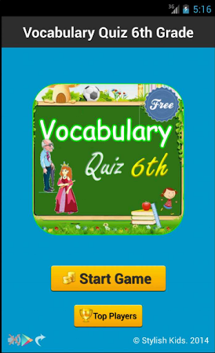 Vocabulary Quiz 6th Grade