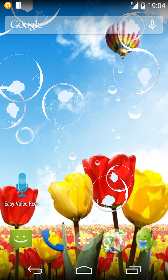 Tulips and Bubbles LWP - screenshot