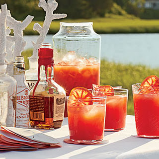 Blood Orange-Bourbon Coolers.
