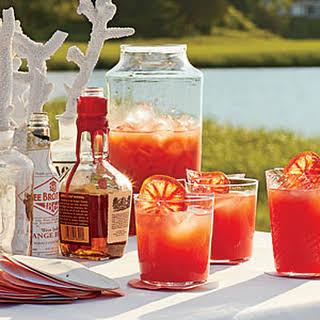 Blood Orange-Bourbon Coolers.