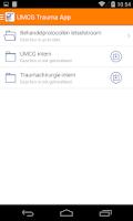 Screenshot of UMCG Trauma App
