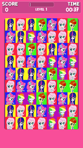 Pink Pony Cute Match Game