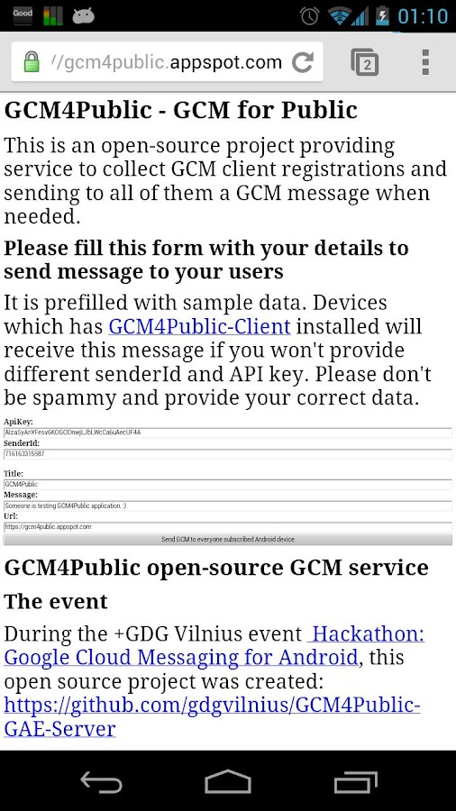 GCM4Public DEMO open source- screenshot