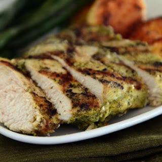 Pesto Marinated Grilled Chicken.