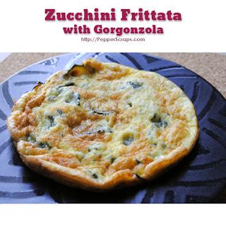Zucchini Frittata with Gorgonzola Recipe