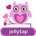 Owls in Love Purple SMS Theme♥ icon