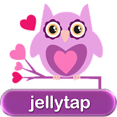 Owls in Love Purple SMS Theme♥