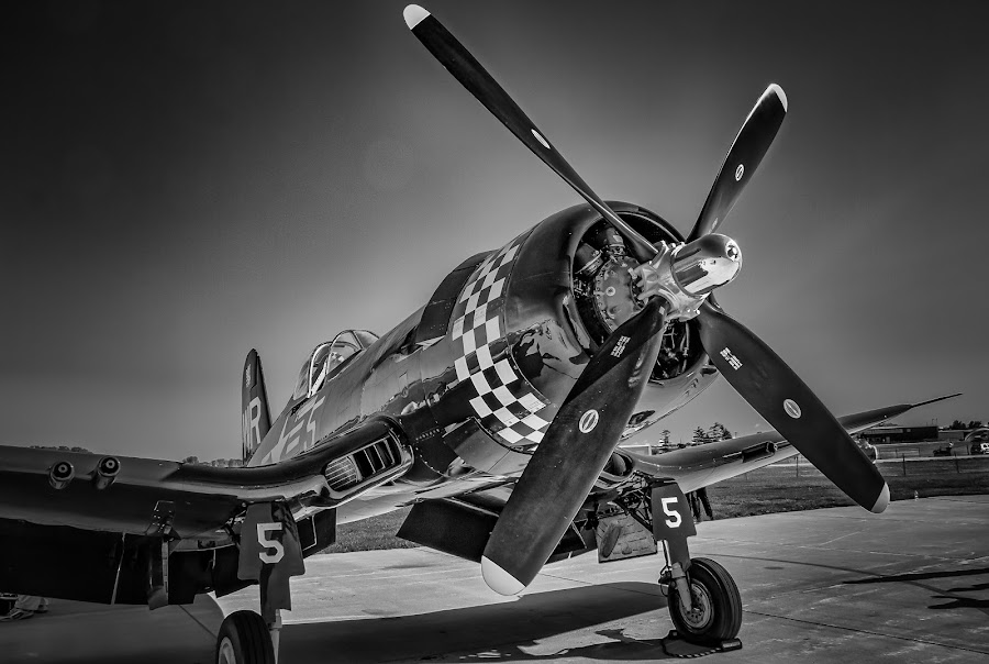 Corsair by Ron Meyers - Black & White Objects & Still Life
