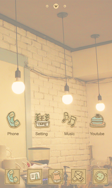 Vintage Cafe Wallpaper Vintage Café go Launcher Theme