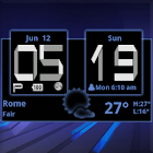 Honeycomb Weather Clock Widget icon