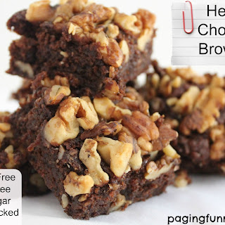 Healthy Chocolate Brownies – great for kids lunchboxes.