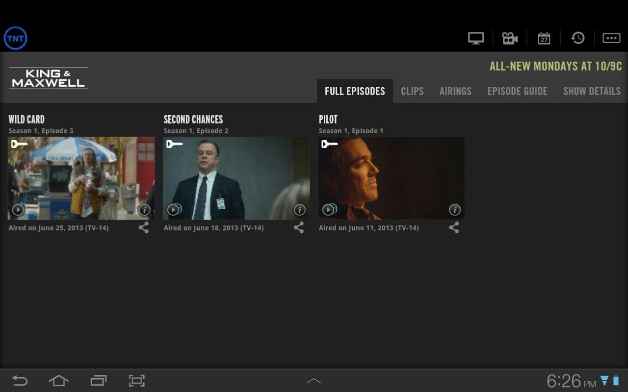 WATCH TNT for Tablets - screenshot