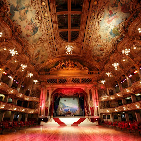 Here is a photograph I took from Blackpool Tower Ballroom.  Located in Blackpool, Lancashire, England, UK. by Michael D Beckwith - Buildings & Architecture Other Interior