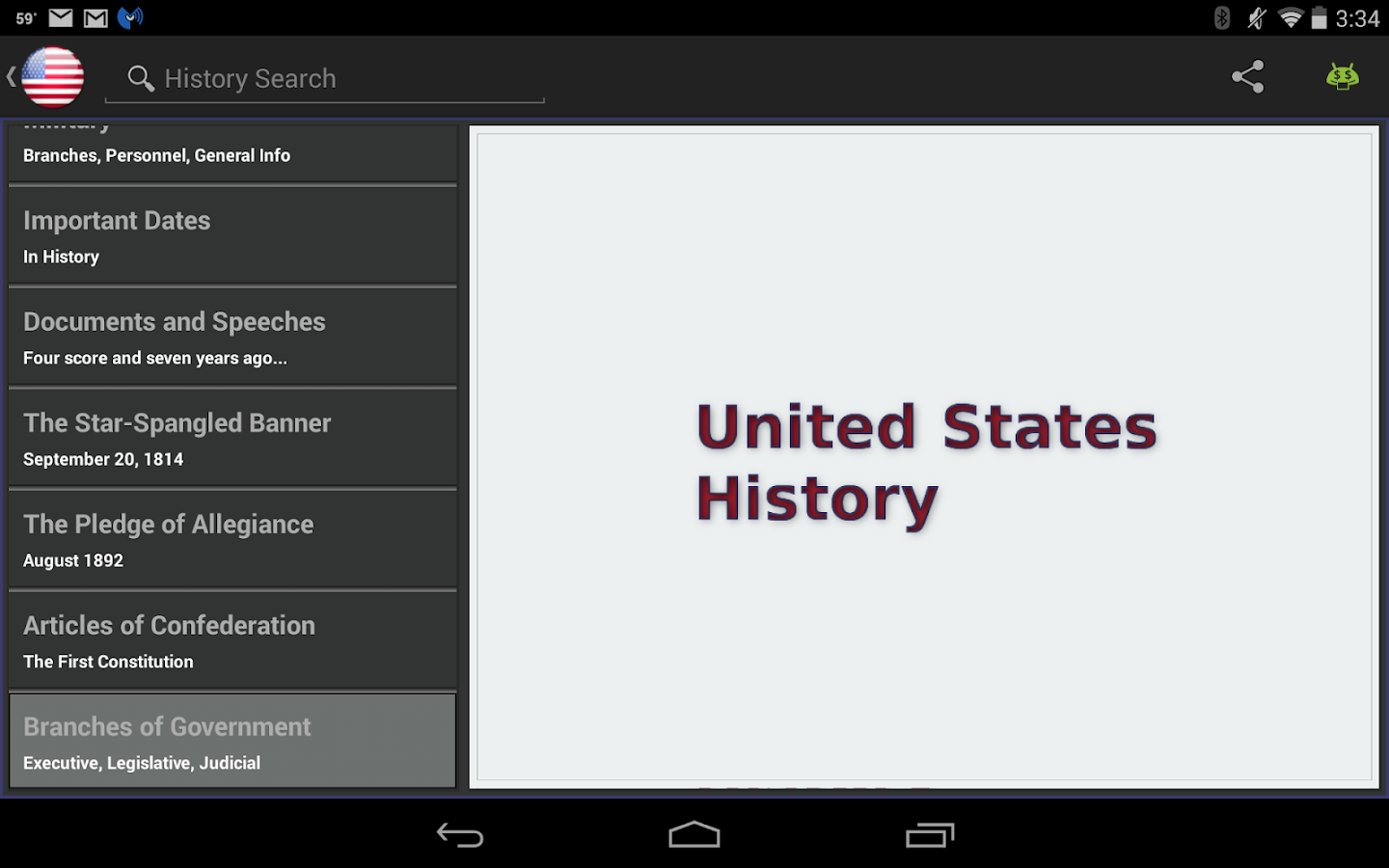 United States History -- screenshot