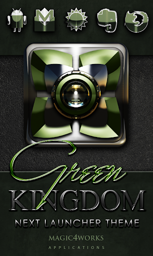 Next Launcher Theme Green King