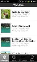 Screenshot of Berchtesgadener Land Wandern