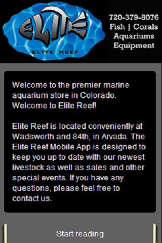 Elite Reef Marine Reef Store- screenshot