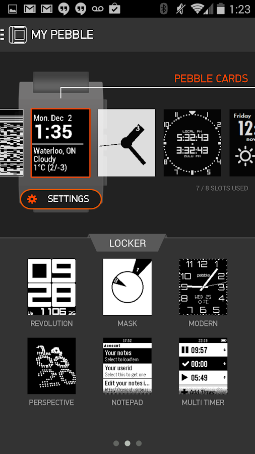 Pebble - screenshot
