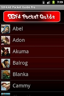 SSF4 AE Pocket Guide- screenshot thumbnail
