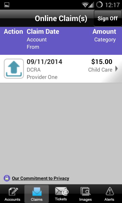 My Reimbursement Benefits - screenshot