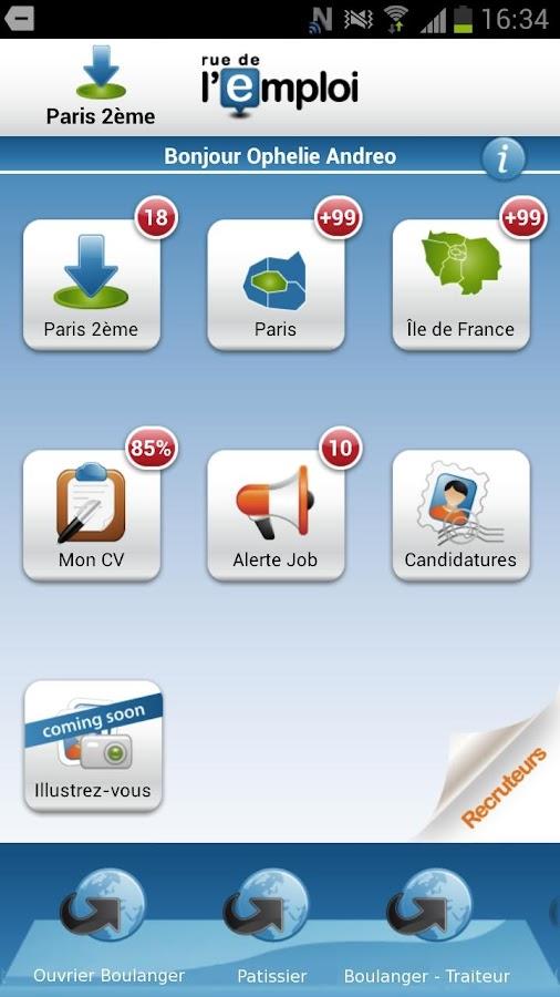 Rue de l'Emploi, offres emploi - screenshot