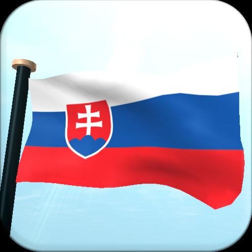 斯洛伐克旗3D动态壁纸 個人化 LOGO-玩APPs