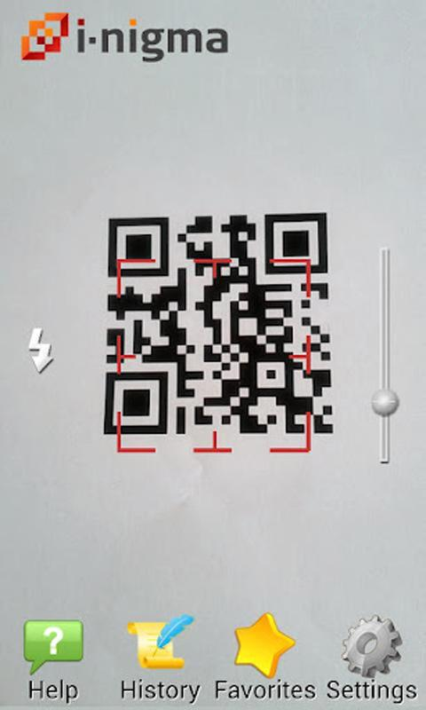 i-nigma QR, Data Matrix and EAN Barcode Scanner – Capture d'écran