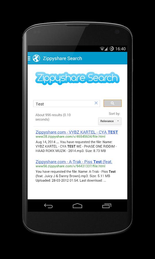 Zippyshare Simple Search - screenshot