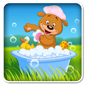 Aaron's kids bathing pet games