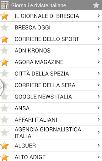 Giornali e riviste italiane