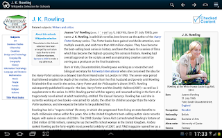 Screenshot of Kiwix, Wikipedia offline