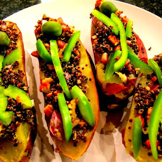 Sweet Potato Black Quinoa Coffins