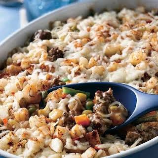 Layered Beef and Potato Casserole.
