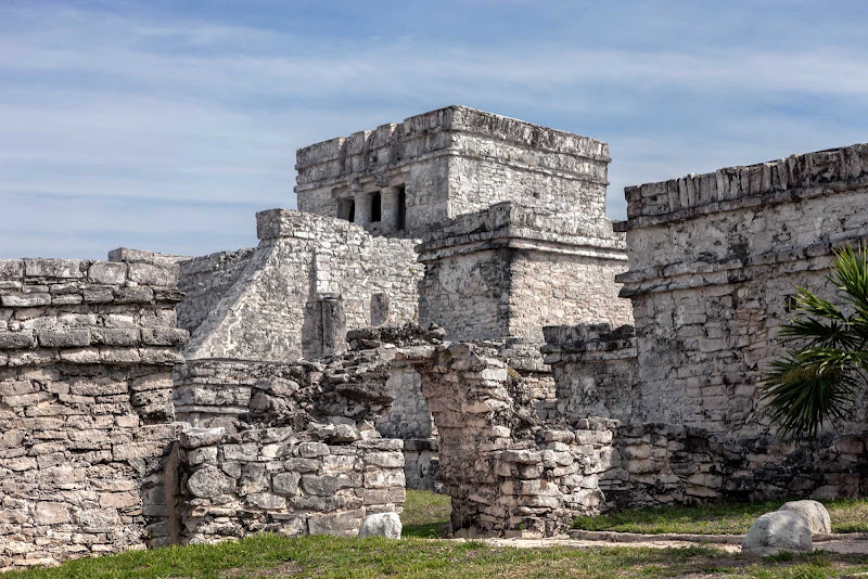 The Mayan ruins of Tulum, south of Playa del Carmen, Mexico.