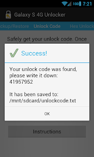 [ROOT] Galaxy S 4G Unlocker- screenshot thumbnail