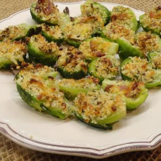 Baked Stuffed Brussels Sprouts w/Bacon & Cheeses
