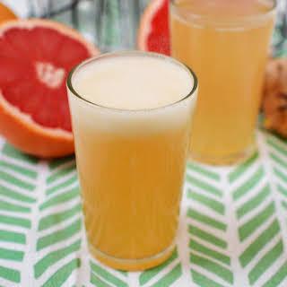 Grapefruit Honey Ginger Soda Syrup.