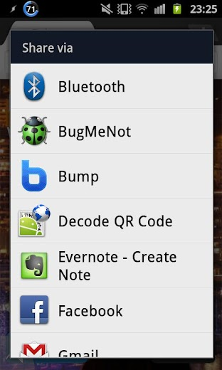 Screenshot 0 for BugMeNot's Android app'