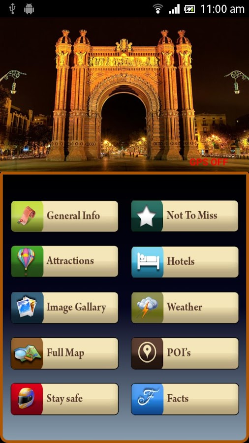 Barcelona Offline Travel Guide - screenshot